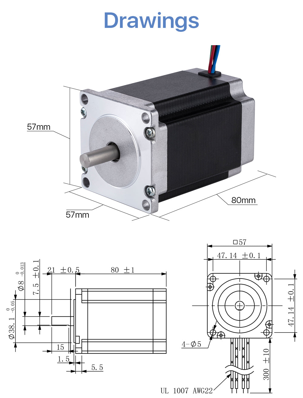 nema 23 stepper motor 3D printer stepper motor