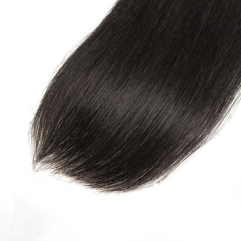 Double Drawn Human Hair Bundles Natural Color Straight Short Brazilian Hair Weave Extension Long Remy for Black Women