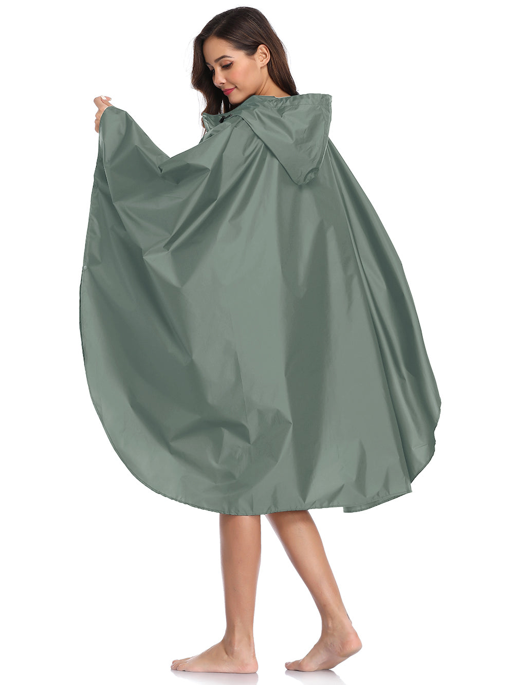 light green rainwear