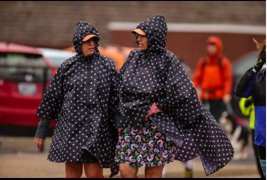 polka dot rain poncho