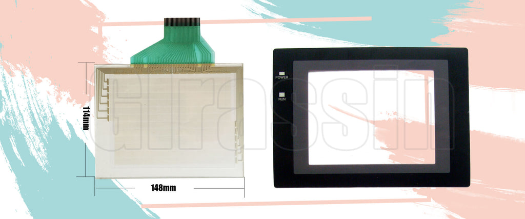 Touch Screen and Overlay for Omron HMI NT30C-ST141B-E Replacement