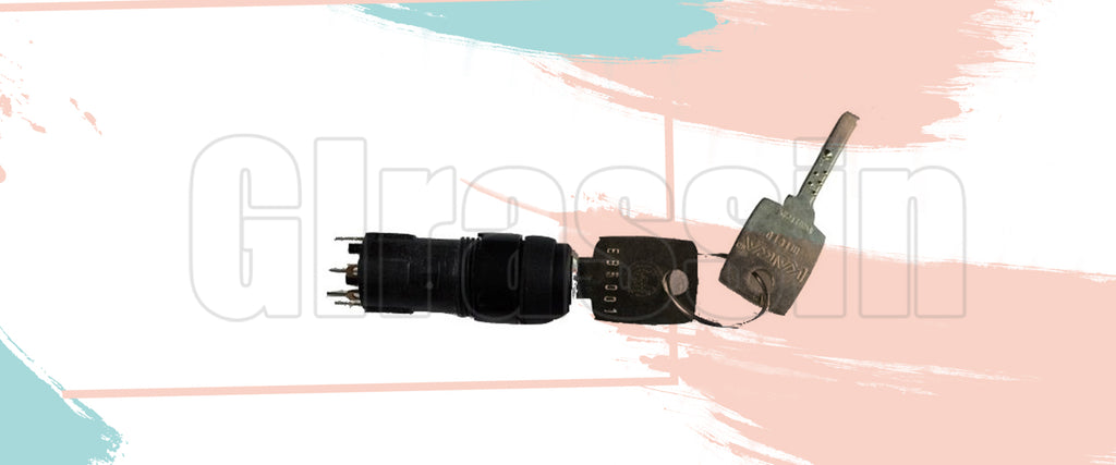 Four-speed switch with key for KUKA KRC2 KCP2 Teach Pendant