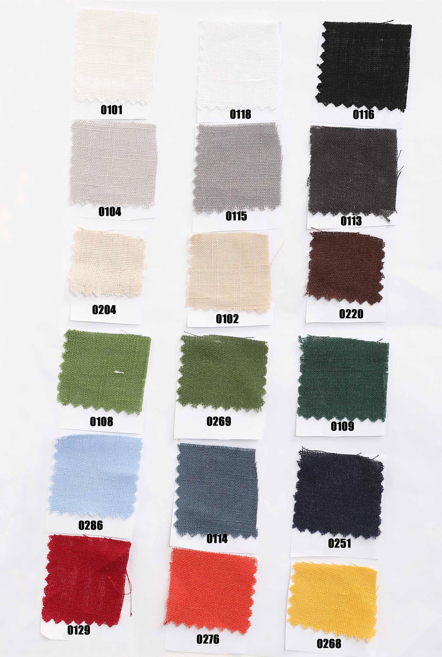 50% linen cotton blend fabric swatch