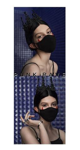 Máscaras góticas de cuernos del pequeño diablo para mujer