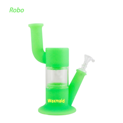 Waxmaid Robo silicone glass water pipe