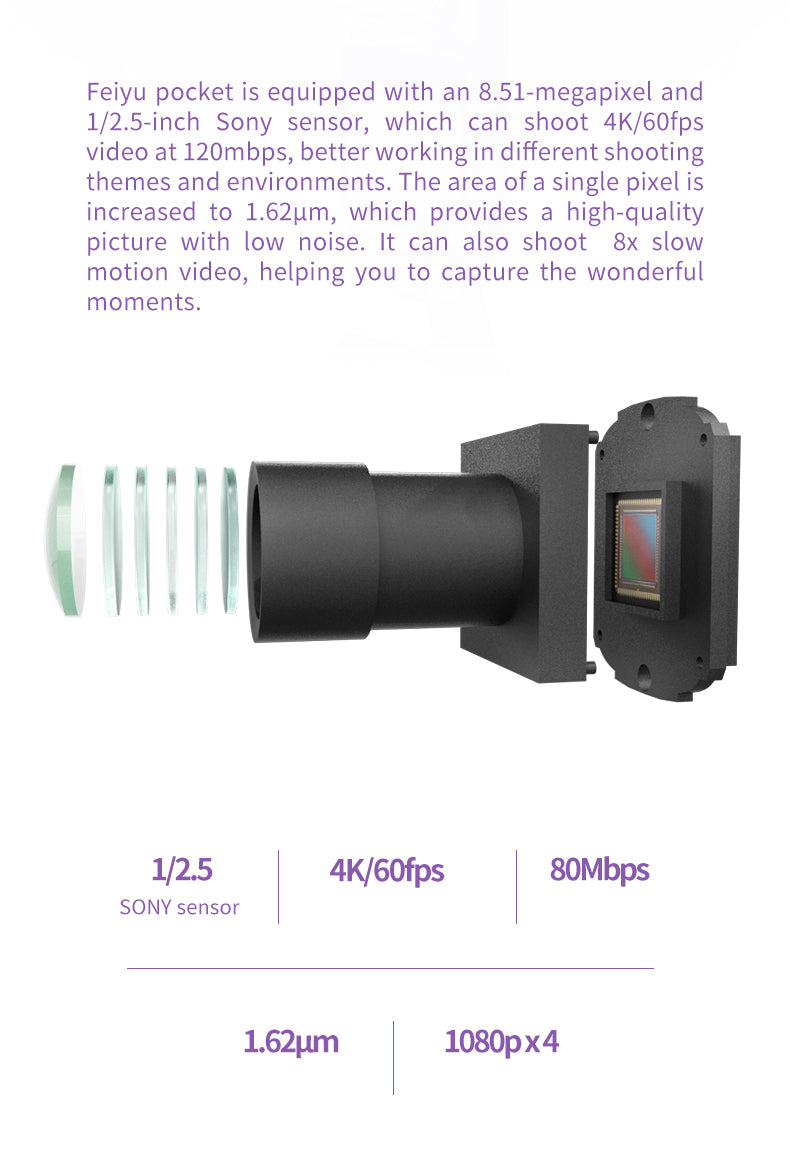 Feiyu Pocket Smart Compact 4K Video Stabilized Camera