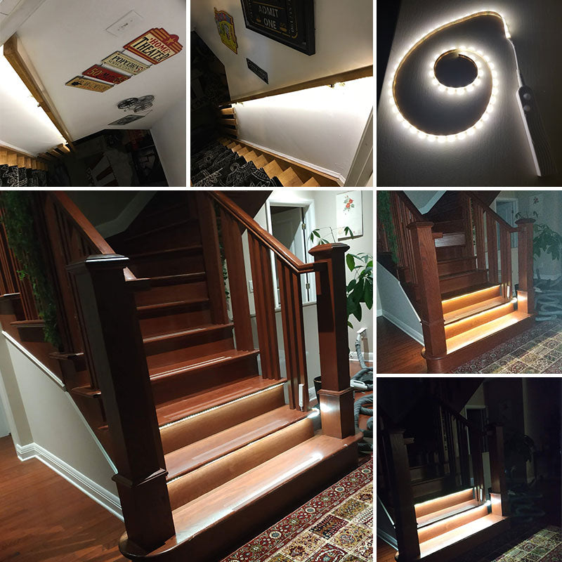 Smart Stair Light wall+lamps Night Induction Stair Light