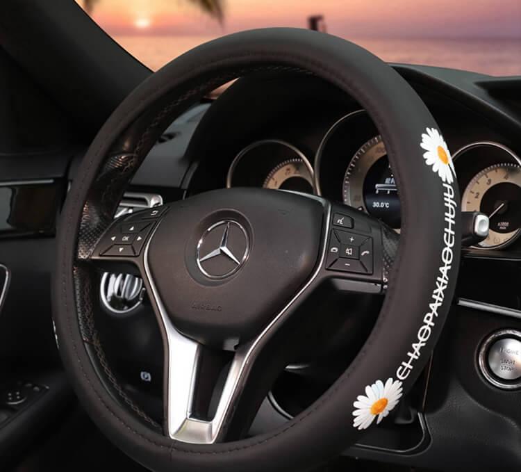 white-daisy-steering-cover-wheel-for-women