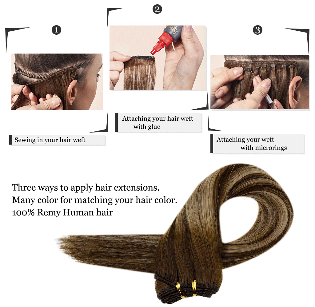 Ways to apply hair weft