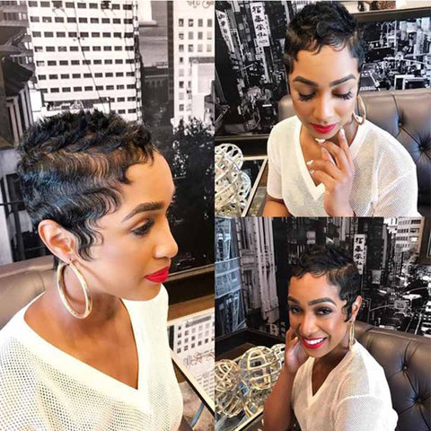 short finger wave for black women