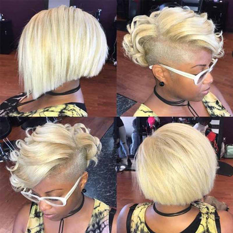 short blonde pixie cut for black women