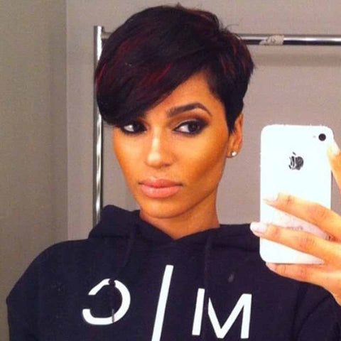 short black wave pixie cut for african american