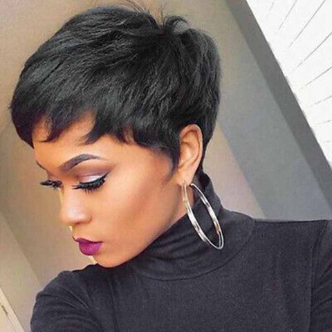 black human hair pixie cut for black women