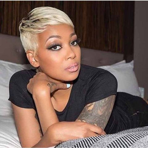 ombre blonde pixie cut for african american