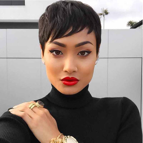 best black pixie cut for african american