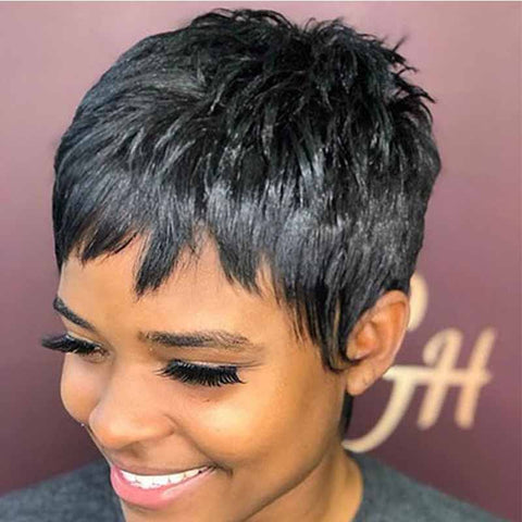 natural black pixie cut for african american