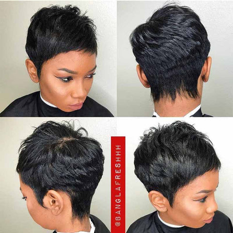 natural pixie cut hairstyle for black women
