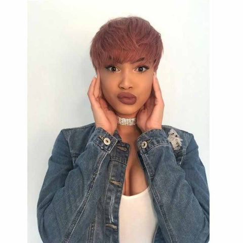 orange pixie cut for black women