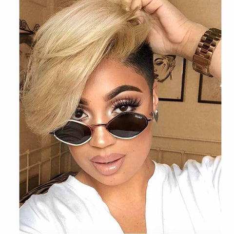 ombre blonde short wig for black women