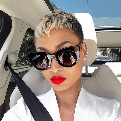 short brown ombre pixie cut hair styles for black women