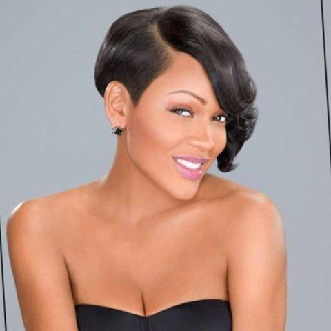 trendy black pixie cut hairstyle for black women