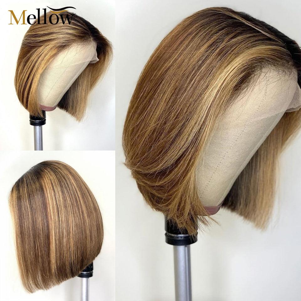 mellow short bob ombre lace wigs